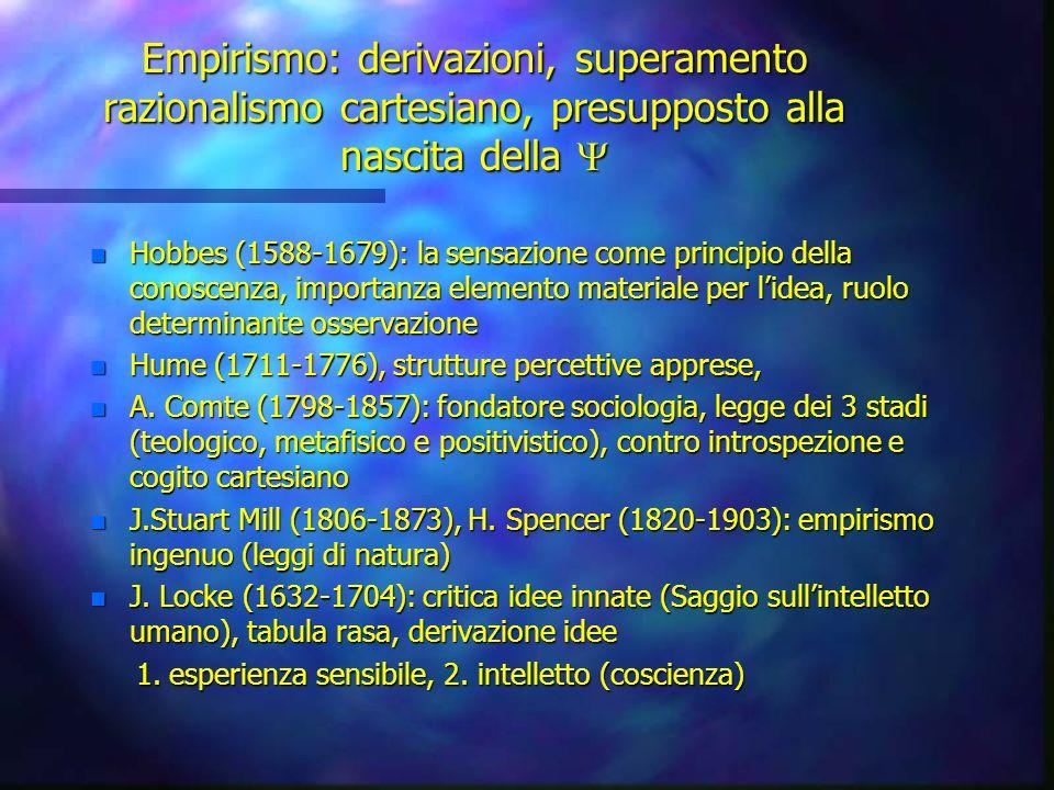 Empirismo: derivazioni, superamento razionalismo cartesiano, presupposto alla nascita della Empirismo: derivazioni, superamento razionalismo cartesian