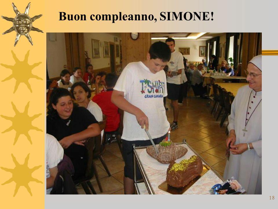 18 Buon compleanno, SIMONE!
