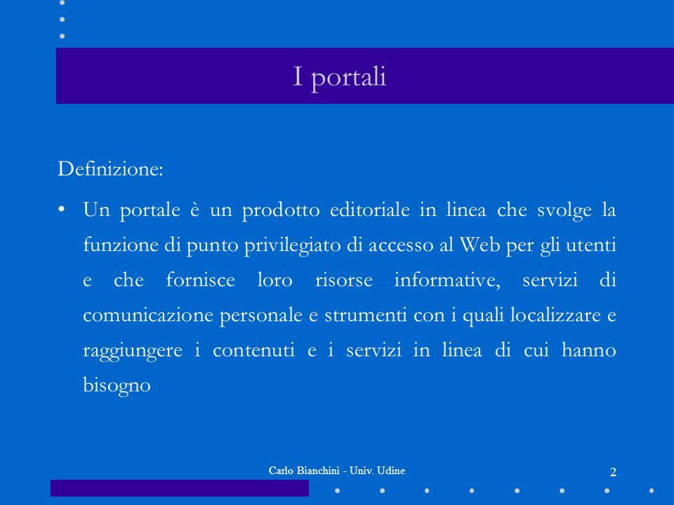 Carlo Bianchini - Univ.Udine 13 Ordinamento in base alla rilevanza Frequenza = n.