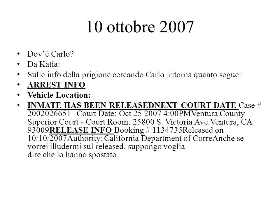 10 ottobre 2007 Dovè Carlo.