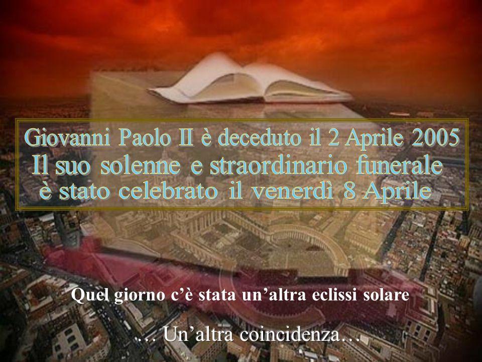 Karol Jòsef Wojtyła Quel giorno ci fu una eclissi di sole Un evento astronomico che succede in media ogni sei mesi Una coincidenza nacque a Wadowice,