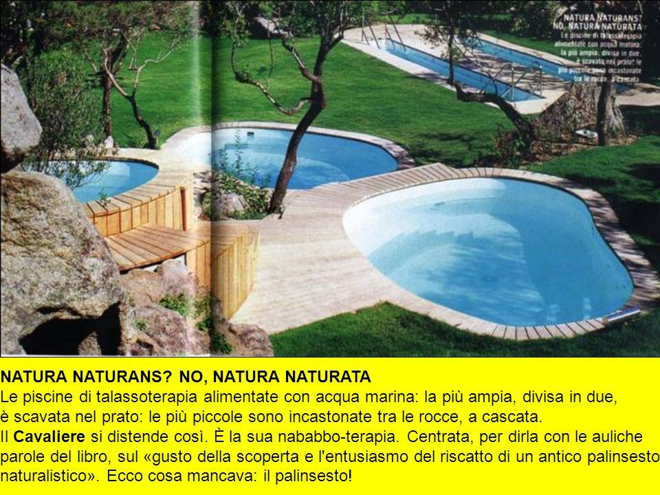 NATURA NATURANS? NO, NATURA NATURATA Le piscine di talassoterapia alimentate con acqua marina: la più ampia, divisa in due, è scavata nel prato: le pi