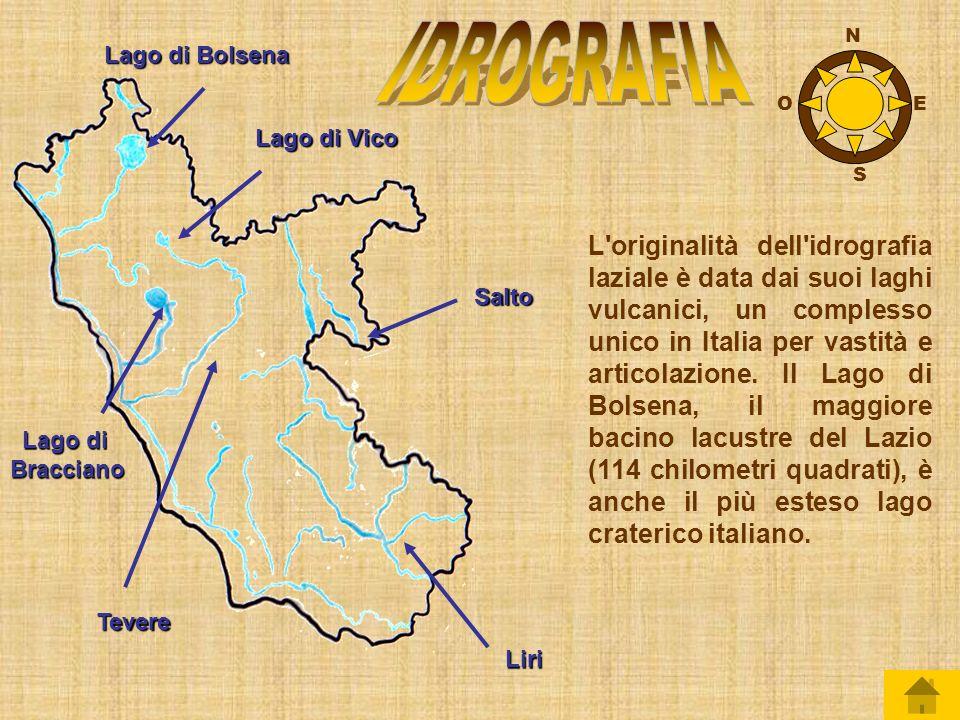 Il territorio del Lazio è molto vario, con paesaggi diversi da zona a zona: poco più della metà della regione è collinare, un quarto è montuoso e il restante territorio, in prossimità del mare, è pianeggiante.