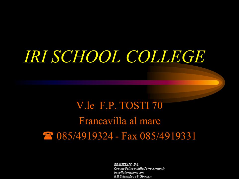 IRI SCHOOL COLLEGE V.le F.P.