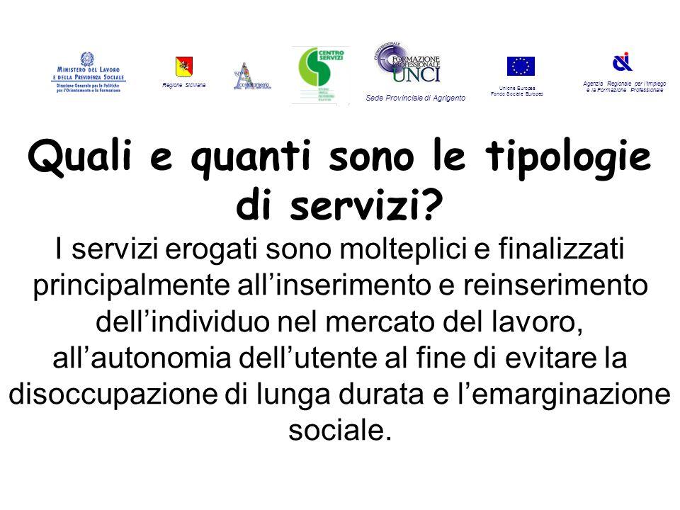 Regione Siciliana Agenzia Regionale per lImpiego e la Formazione Professionale Sede Provinciale di Agrigento Unione Europea Fondo Sociale Europeo Qual