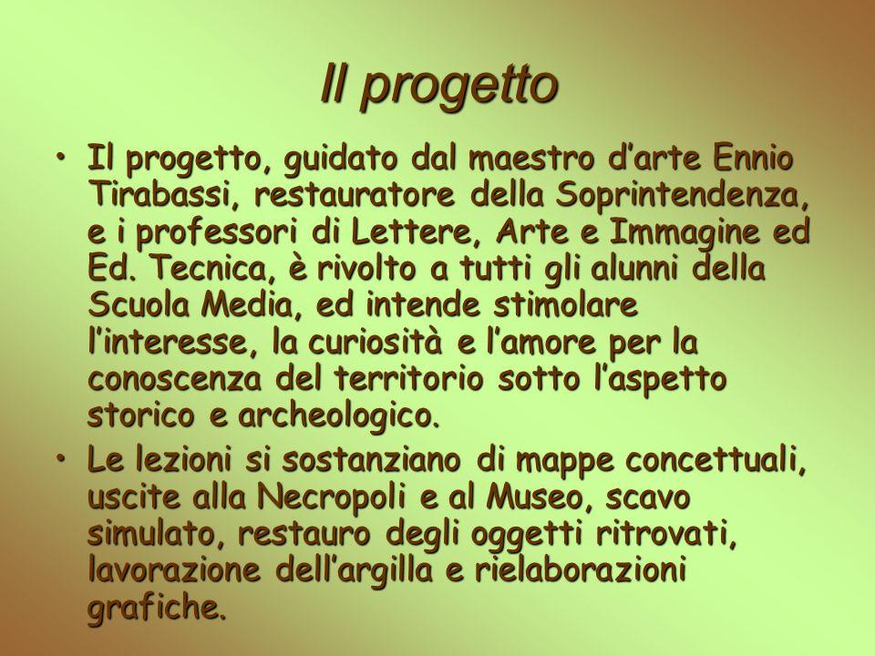 Il progetto Il progetto, guidato dal maestro darte Ennio Tirabassi, restauratore della Soprintendenza, e i professori di Lettere, Arte e Immagine ed E