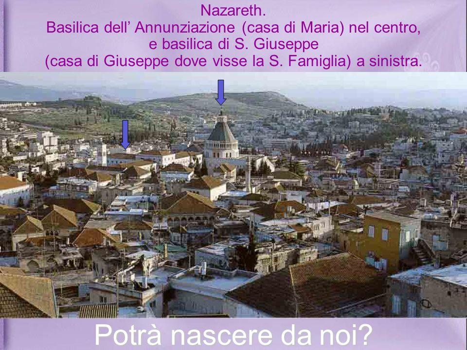 Nazareth.Basilica dell Annunziazione (casa di Maria) nel centro, e basilica di S.