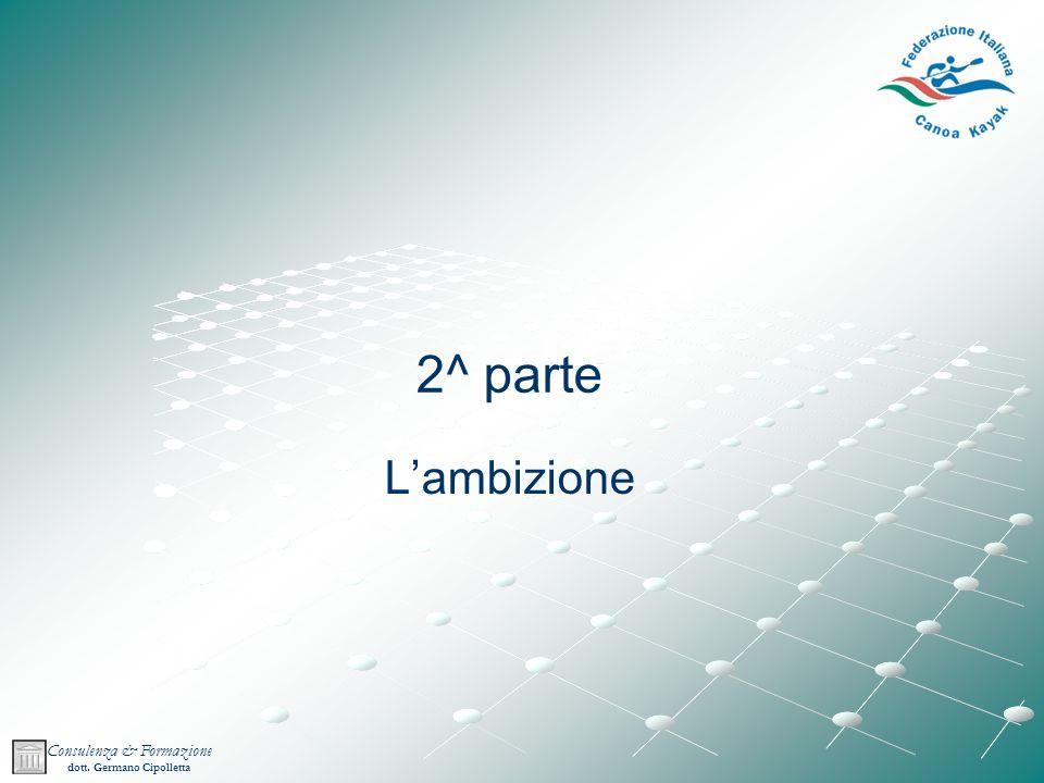 Consulenza & Formazione dott. Germano Cipolletta 2^ parte Lambizione
