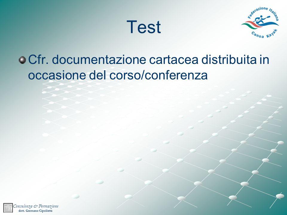 Consulenza & Formazione dott.Germano Cipolletta Test Cfr.