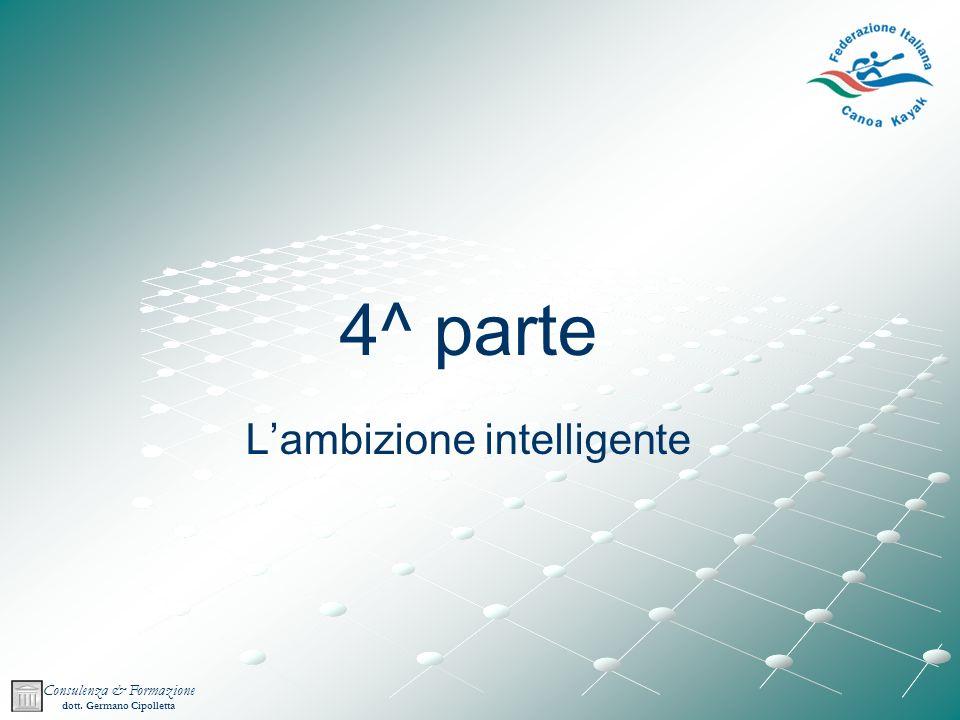 Consulenza & Formazione dott. Germano Cipolletta 4^ parte Lambizione intelligente