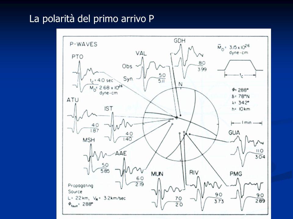 La polarità del primo arrivo P