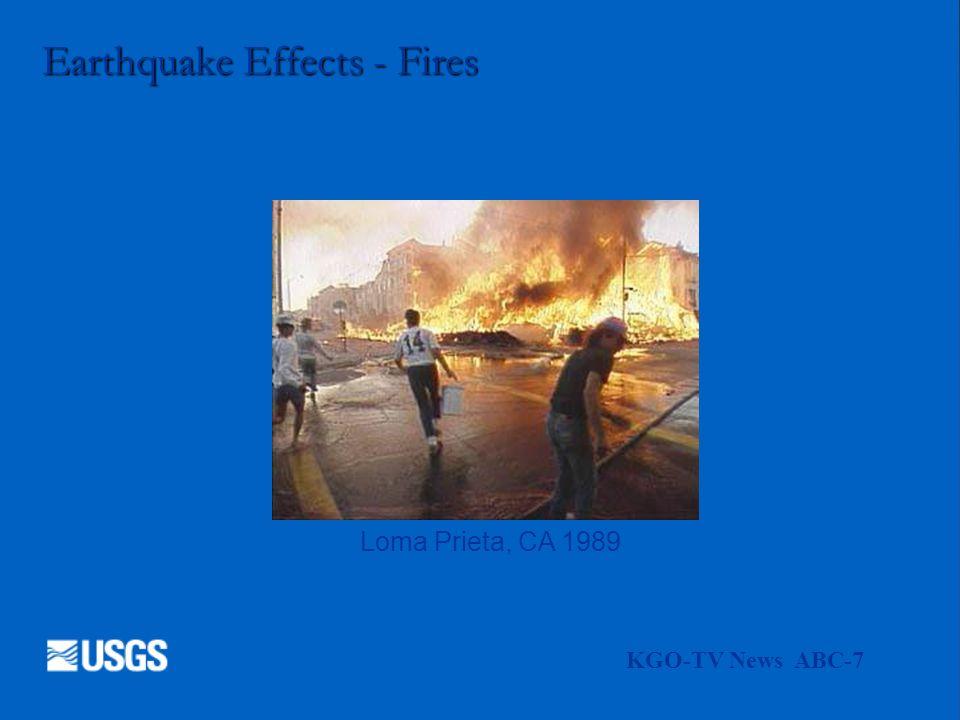 Earthquake Effects - Fires KGO-TV News ABC-7 Loma Prieta, CA 1989