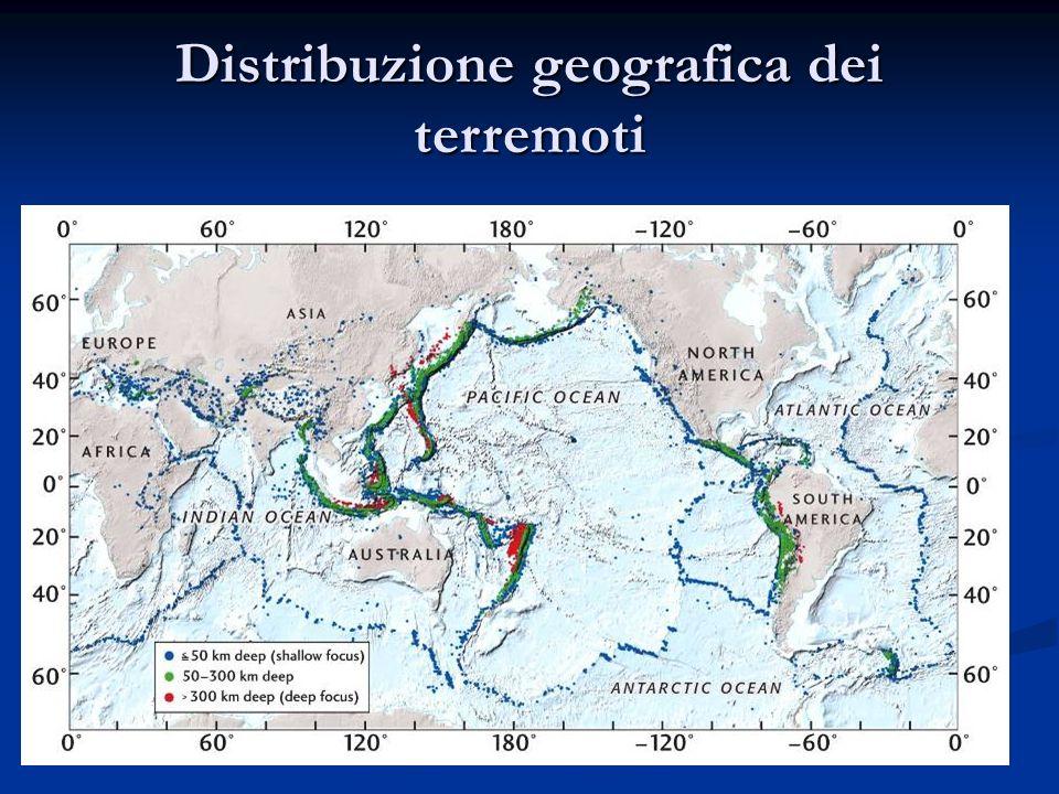 Distribuzione geografica dei terremoti