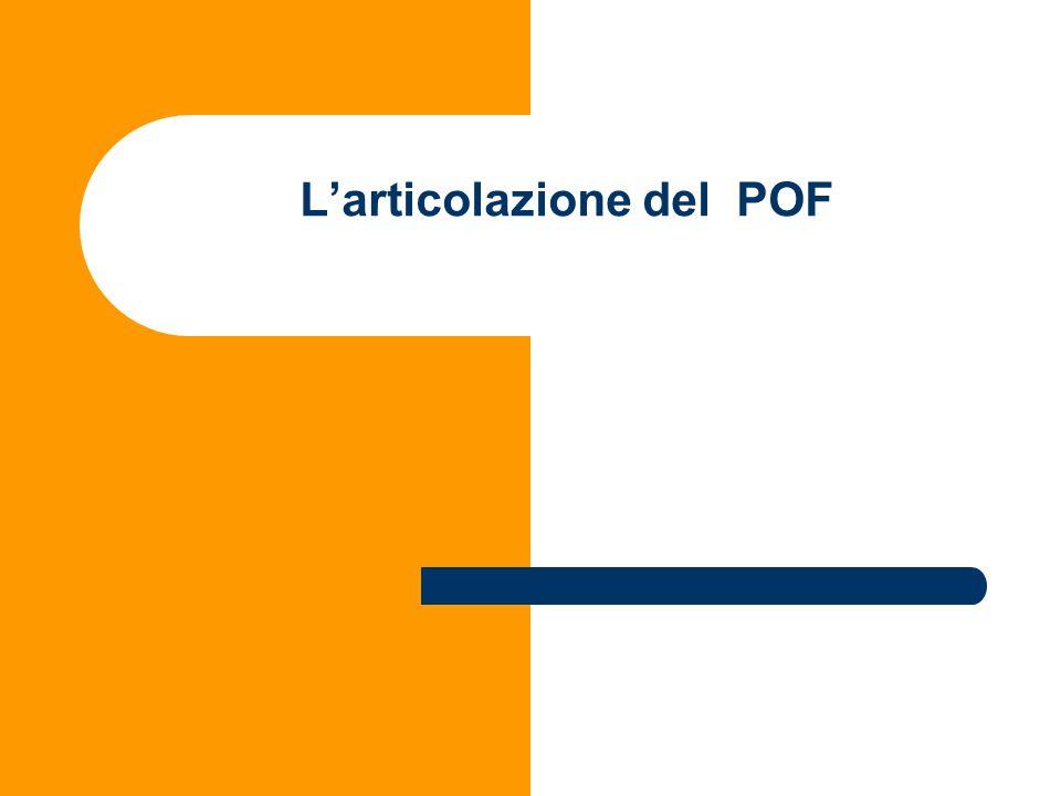 Larticolazione del POF