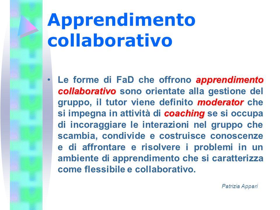 Apprendimento collaborativo apprendimento collaborativo moderator coachingLe forme di FaD che offrono apprendimento collaborativo sono orientate alla