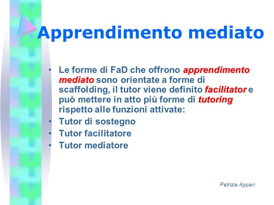 Apprendimento mediato apprendimento mediato facilitator tutoringLe forme di FaD che offrono apprendimento mediato sono orientate a forme di scaffoldin