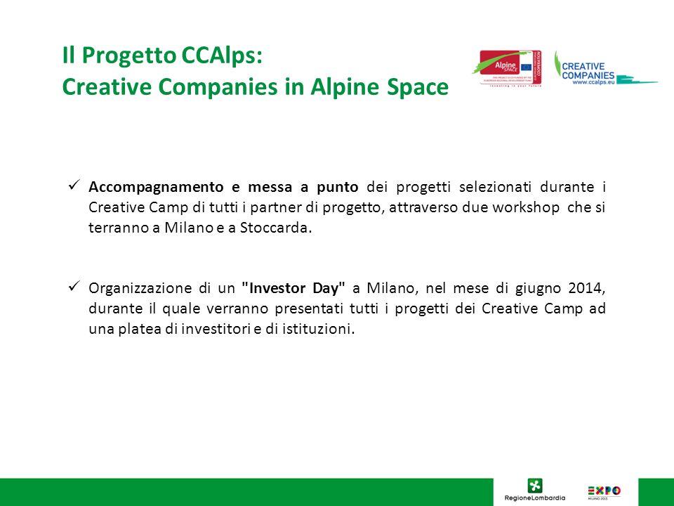 Accompagnamento e messa a punto dei progetti selezionati durante i Creative Camp di tutti i partner di progetto, attraverso due workshop che si terranno a Milano e a Stoccarda.