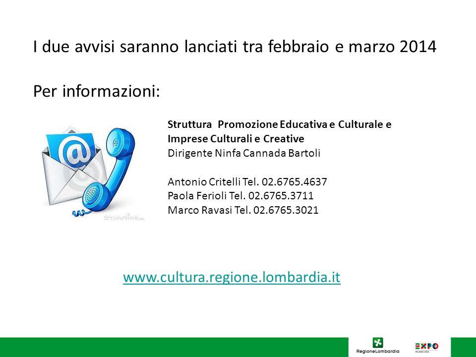 Struttura Promozione Educativa e Culturale e Imprese Culturali e Creative Dirigente Ninfa Cannada Bartoli Antonio Critelli Tel.