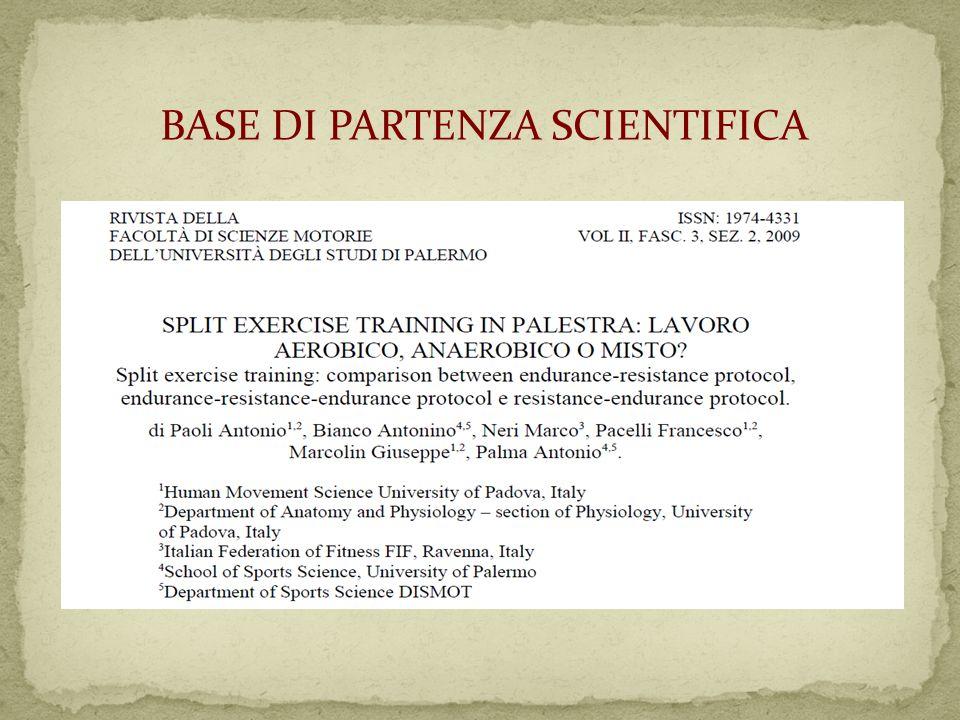 BASE DI PARTENZA SCIENTIFICA