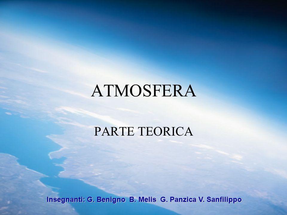 ATMOSFERA PARTE TEORICA Insegnanti: G. Benigno B. Melis G. Panzica V. Sanfilippo