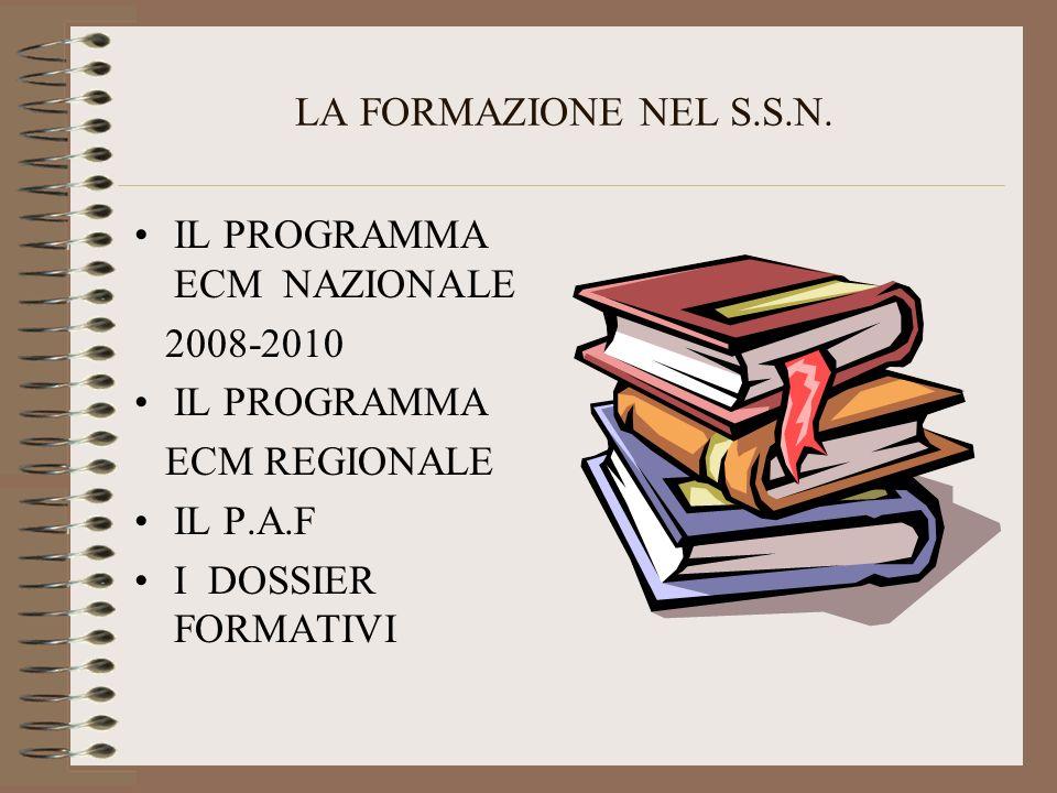 LA FORMAZIONE NEL S.S.N.
