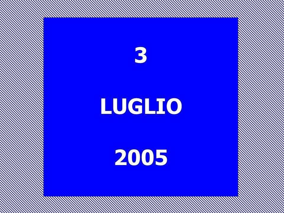 3 LUGLIO 2005