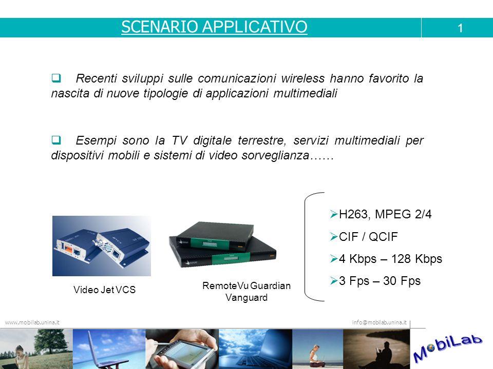 info@mobilab.unina.it www.mobilab.unina.it Recenti sviluppi sulle comunicazioni wireless hanno favorito la nascita di nuove tipologie di applicazioni