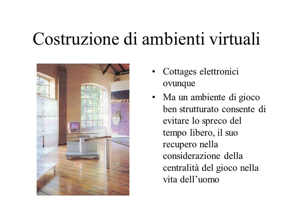 Costruzione di ambienti virtuali Cottages elettronici ovunque Ma un ambiente di gioco ben strutturato consente di evitare lo spreco del tempo libero,
