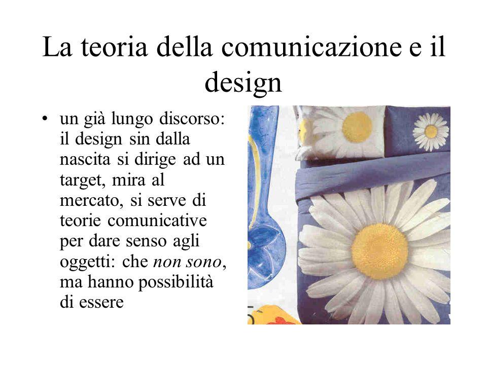 La teoria della comunicazione e il design un già lungo discorso: il design sin dalla nascita si dirige ad un target, mira al mercato, si serve di teor