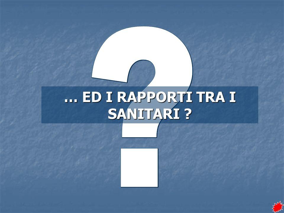 … ED I RAPPORTI TRA I SANITARI