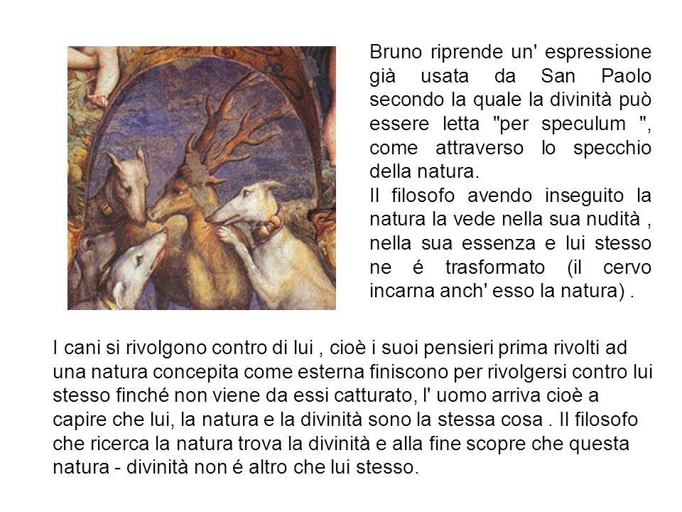 Bruno riprende un' espressione già usata da San Paolo secondo la quale la divinità può essere letta