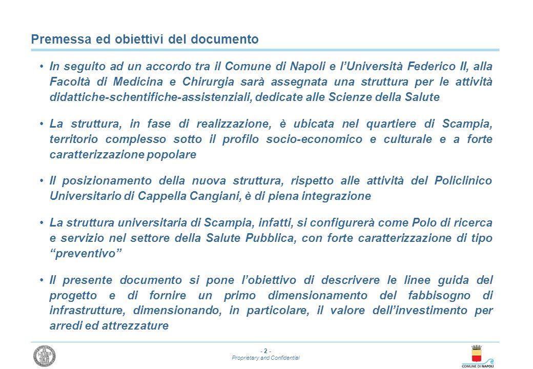 - 2 - Proprietary and Confidential Premessa ed obiettivi del documento In seguito ad un accordo tra il Comune di Napoli e lUniversità Federico II, all