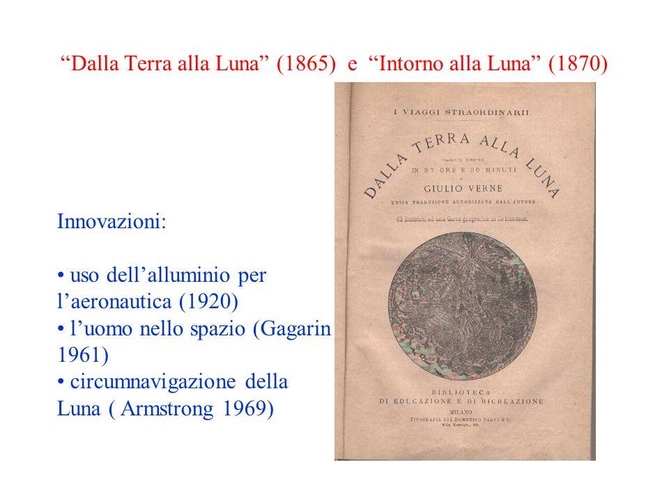 Innovazioni: uso dellalluminio per laeronautica (1920) luomo nello spazio (Gagarin 1961) circumnavigazione della Luna ( Armstrong 1969) Dalla Terra al