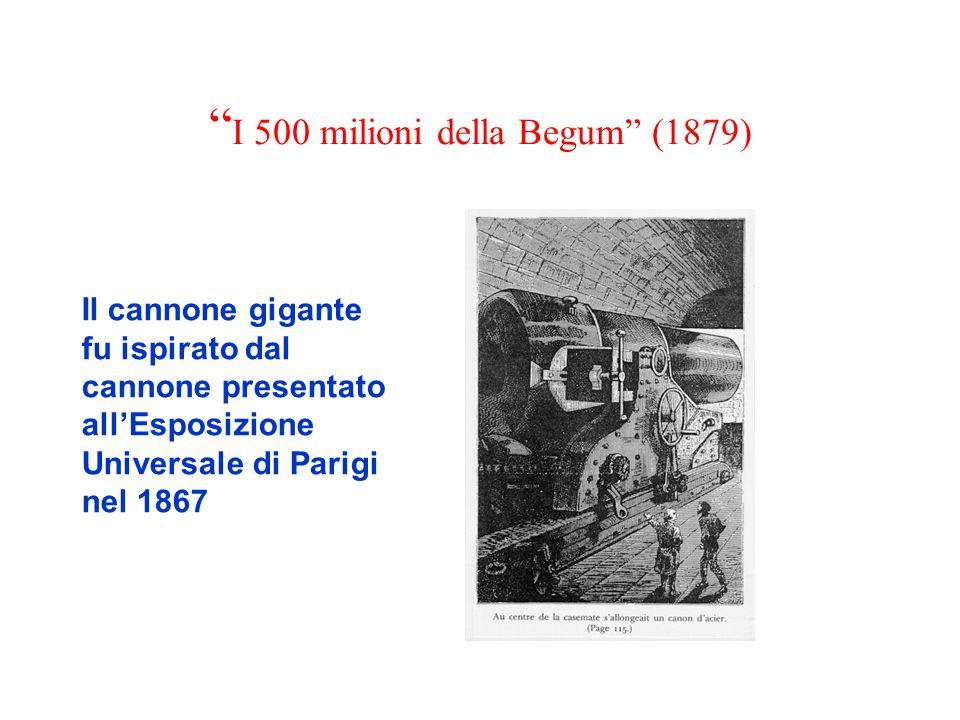 I 500 milioni della Begum (1879) Il cannone gigante fu ispirato dal cannone presentato allEsposizione Universale di Parigi nel 1867