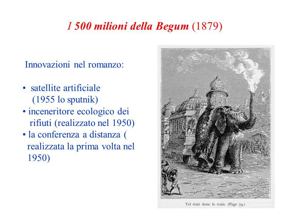 Innovazioni nel romanzo: satellite artificiale (1955 lo sputnik) inceneritore ecologico dei rifiuti (realizzato nel 1950) la conferenza a distanza ( r