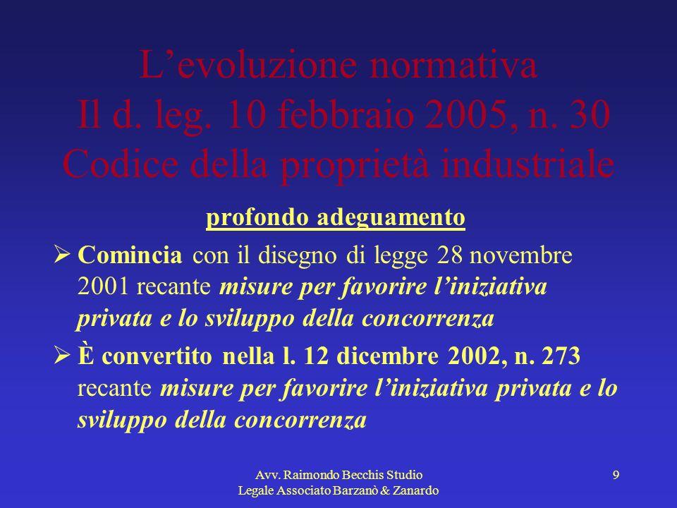 Avv.Raimondo Becchis Studio Legale Associato Barzanò & Zanardo 20 Art.