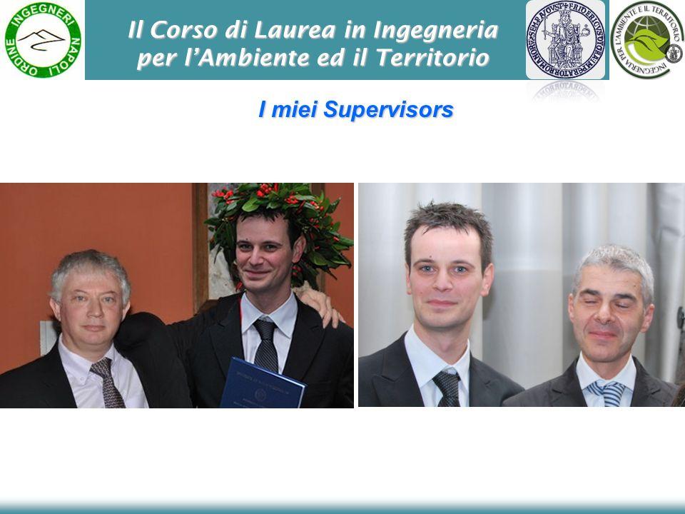 Il Corso di Laurea in Ingegneria per lAmbiente ed il Territorio I miei Supervisors