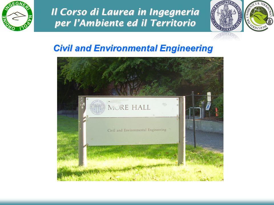 Il Corso di Laurea in Ingegneria per lAmbiente ed il Territorio Civil and Environmental Engineering