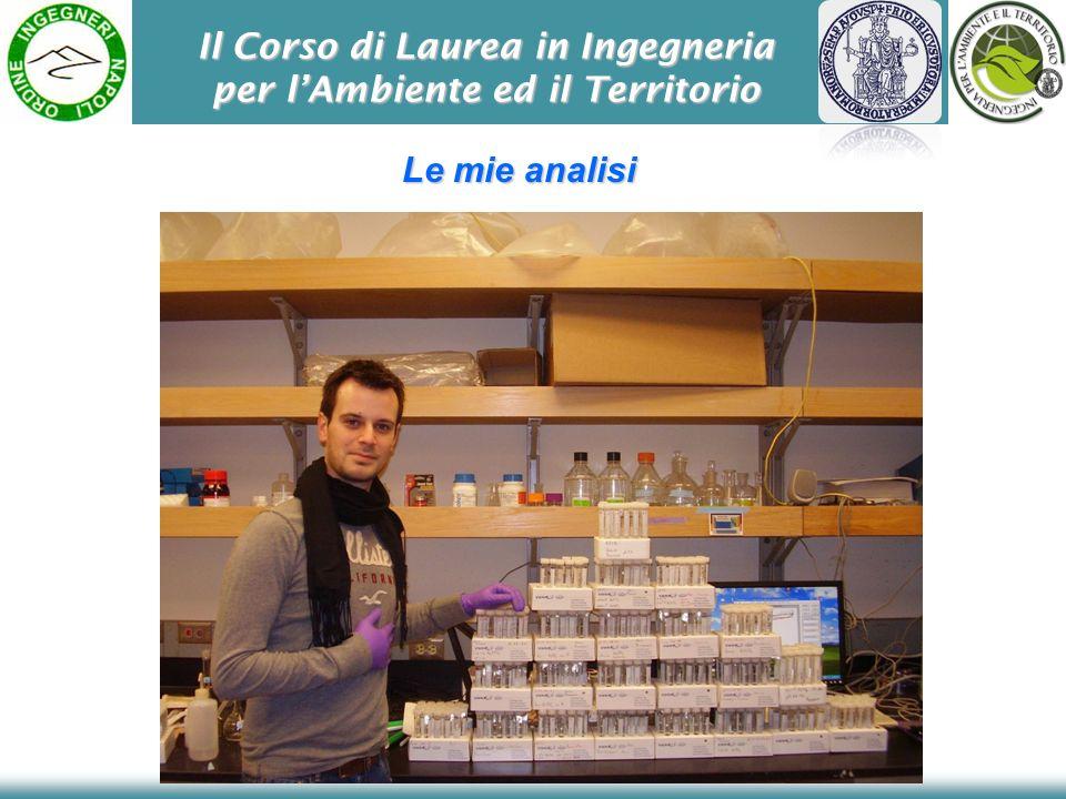Il Corso di Laurea in Ingegneria per lAmbiente ed il Territorio Le mie analisi