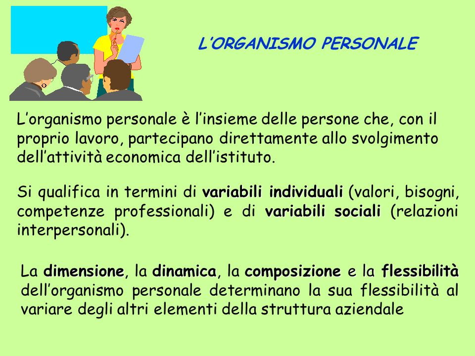 dimensionedinamicacomposizione e la flessibilità La dimensione, la dinamica, la composizione e la flessibilità dellorganismo personale determinano la