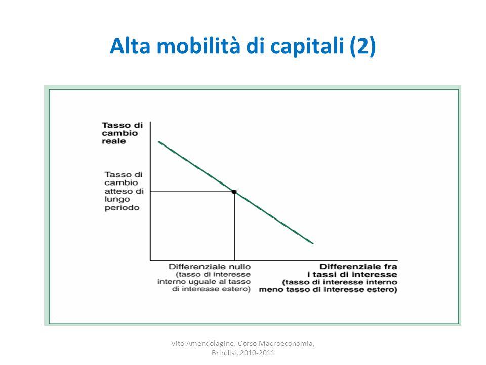 Alta mobilità di capitali (2) Vito Amendolagine, Corso Macroeconomia, Brindisi, 2010-2011