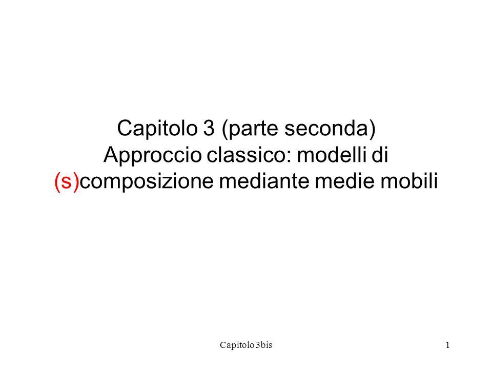 Capitolo 3bis1 Capitolo 3 (parte seconda) Approccio classico: modelli di (s)composizione mediante medie mobili
