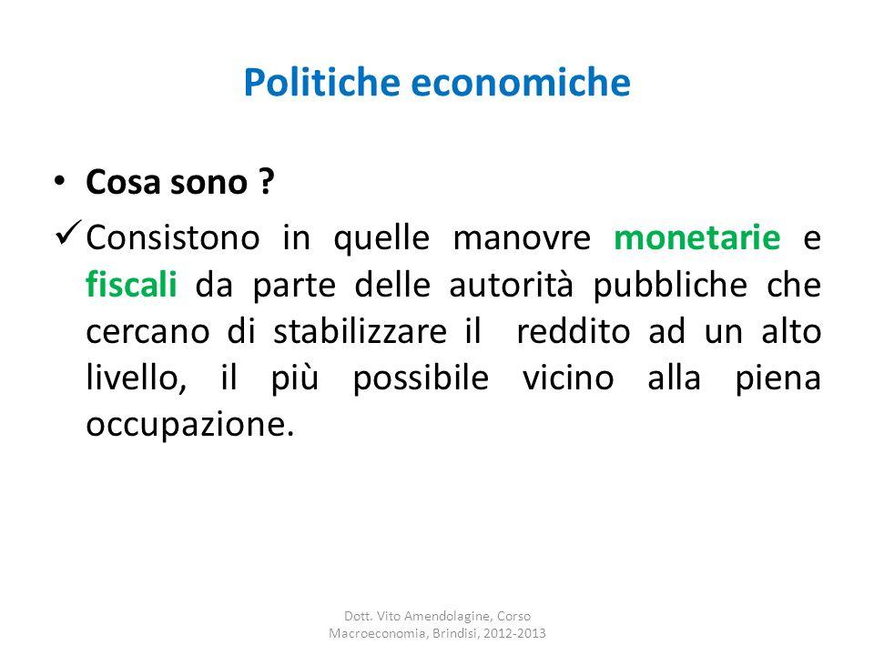 Politiche economiche Cosa sono .