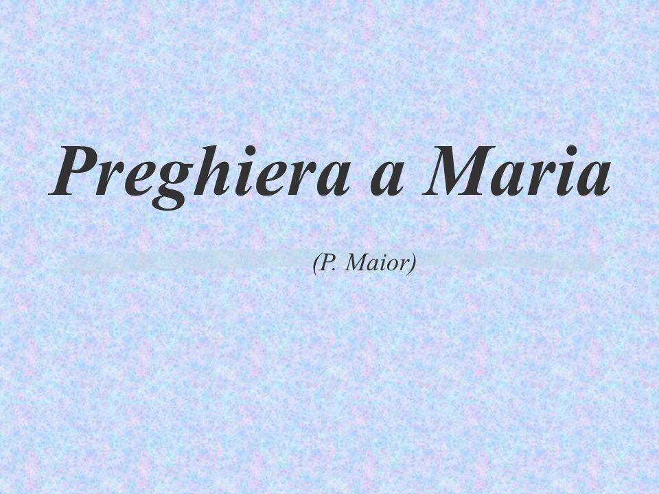 O Maria, piena di grazia, madre di Cristo e madre nostra, insegnaci il raccoglimento, il silenzio e la meditazione.