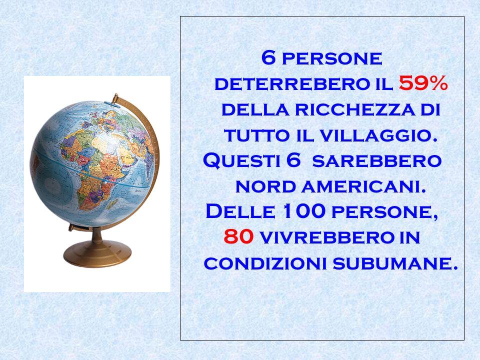 6 persone deterrebero il 59% della ricchezza di tutto il villaggio.