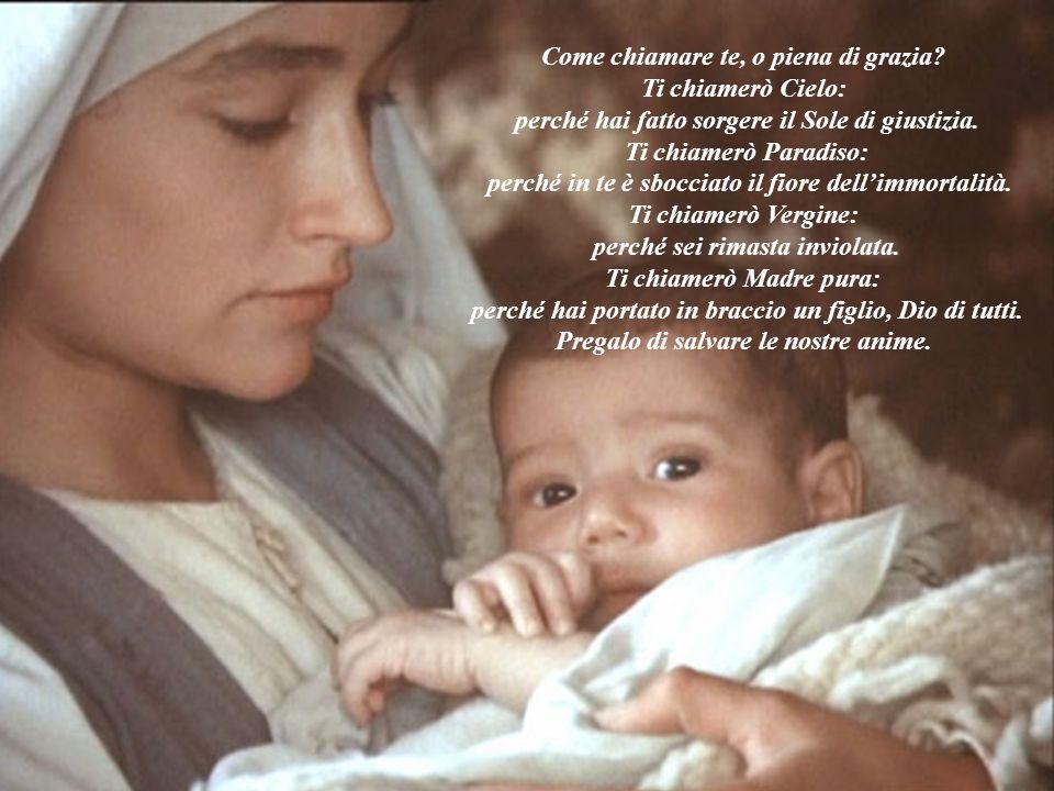 il Signore è con te Il messaggero divino dice a Maria: Il Signore è con te.