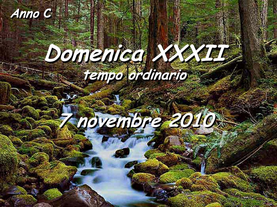 Anno C Domenica XXXII tempo ordinario Domenica XXXII tempo ordinario 7 novembre 2010