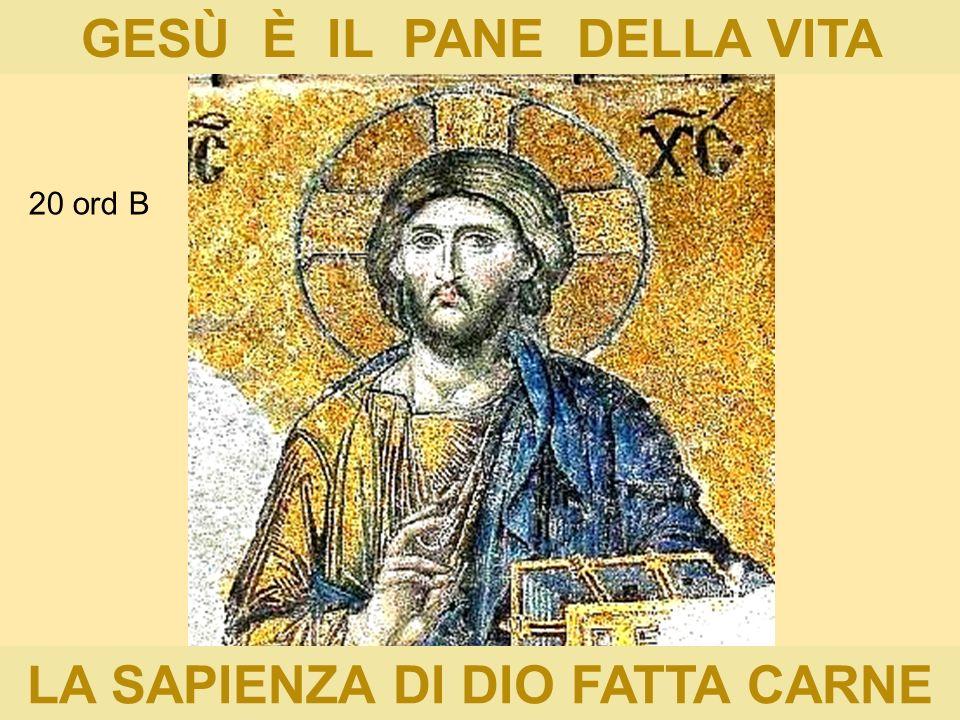 GESÙ È IL PANE DELLA VITA LA SAPIENZA DI DIO FATTA CARNE 20 ord B