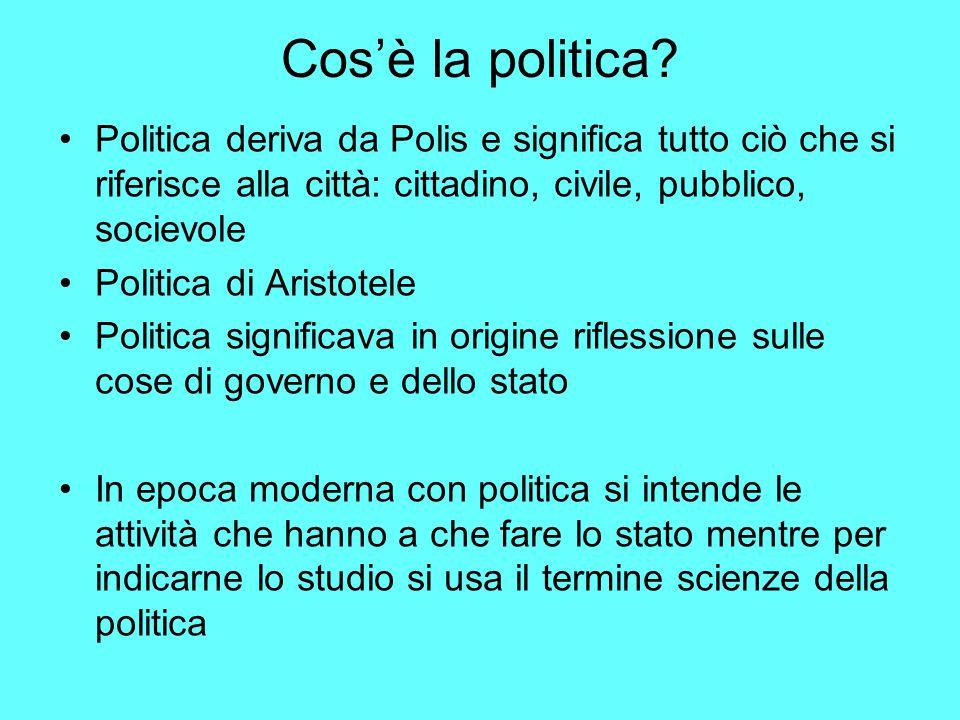 Cosè la politica.