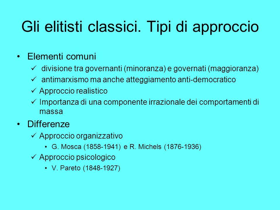 Gli elitisti classici.